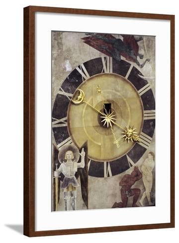 Astronomical Dial, Clock Tower--Framed Art Print