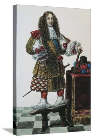 France, Portrait of Louis XIV of France--Stretched Canvas Print