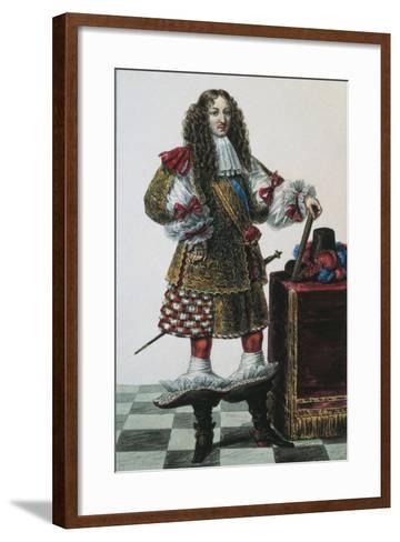France, Portrait of Louis XIV of France--Framed Art Print