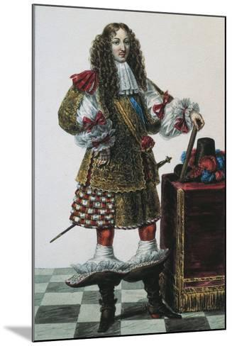 France, Portrait of Louis XIV of France--Mounted Giclee Print