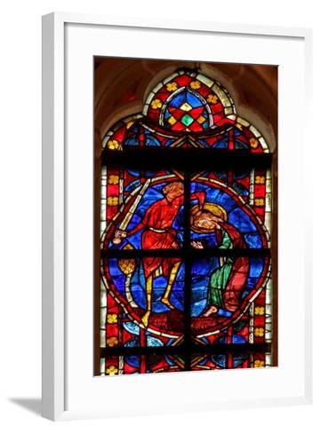 Window W210 Depicting the Martyrdom of St James--Framed Art Print