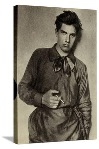 Vladimir Mayakovsky, Russian Poet, Playwright, Artist and Actor--Stretched Canvas Print