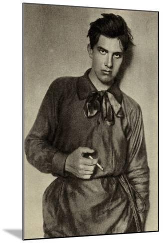 Vladimir Mayakovsky, Russian Poet, Playwright, Artist and Actor--Mounted Photographic Print