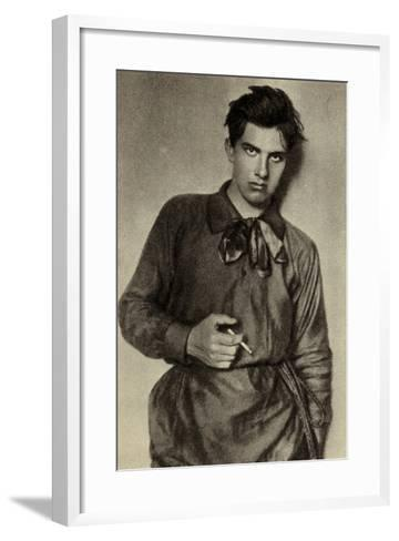 Vladimir Mayakovsky, Russian Poet, Playwright, Artist and Actor--Framed Art Print