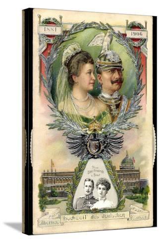Mechanik Kaiserpaar, Preußen, Wilhelm II, Prinzen--Stretched Canvas Print