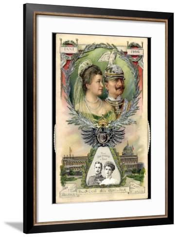 Mechanik Kaiserpaar, Preußen, Wilhelm II, Prinzen--Framed Art Print