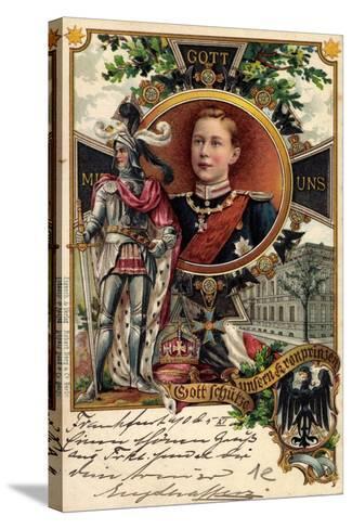 Litho Kronprinz Wilhelm Von Preu?en, Ritter, Krone--Stretched Canvas Print