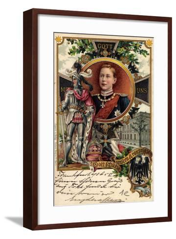 Litho Kronprinz Wilhelm Von Preu?en, Ritter, Krone--Framed Art Print