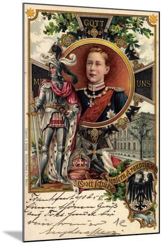 Litho Kronprinz Wilhelm Von Preu?en, Ritter, Krone--Mounted Giclee Print