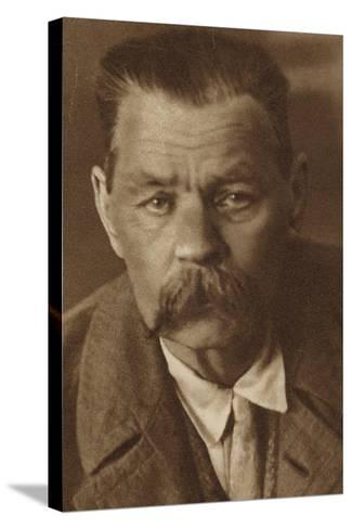 Maxim Gorky, Russian Writer--Stretched Canvas Print