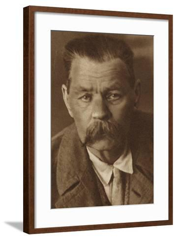 Maxim Gorky, Russian Writer--Framed Art Print