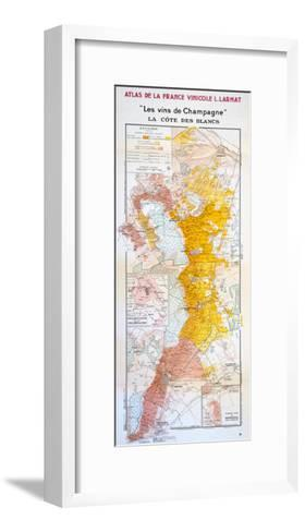 Map of the Champagne Region: the C?te Des Blancs--Framed Art Print