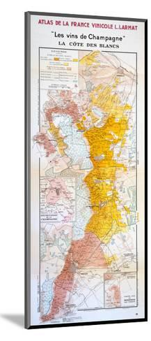 Map of the Champagne Region: the C?te Des Blancs--Mounted Giclee Print