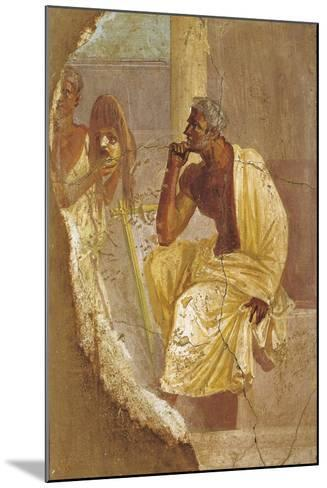 Fresco Depicting Actor and Tragic Mask, from Pompei, Italy--Mounted Giclee Print