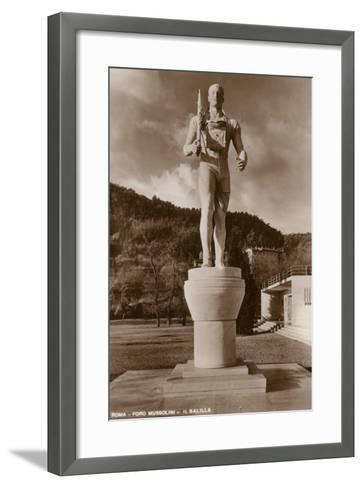 Il Balilla, Foro Mussolini, Rome--Framed Art Print