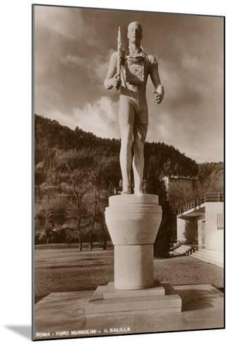 Il Balilla, Foro Mussolini, Rome--Mounted Photographic Print