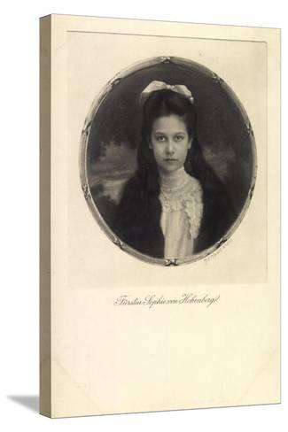 Fürstin Sophie Von Hohenberg, Portrait, Schleife--Stretched Canvas Print