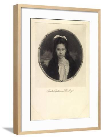 Fürstin Sophie Von Hohenberg, Portrait, Schleife--Framed Art Print