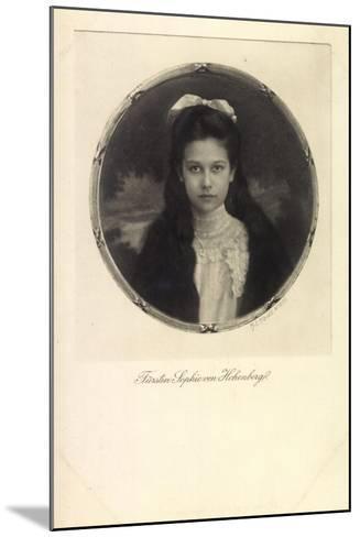Fürstin Sophie Von Hohenberg, Portrait, Schleife--Mounted Giclee Print