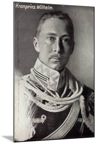 Kronprinz Friedrich Wilhelm Von Preußen, Uniform--Mounted Giclee Print