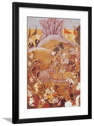 Roustem and Afrasial's First Battle--Framed Art Print