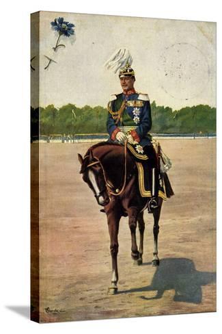 Künstler Starcke, König Friedrich August III, Pferd--Stretched Canvas Print