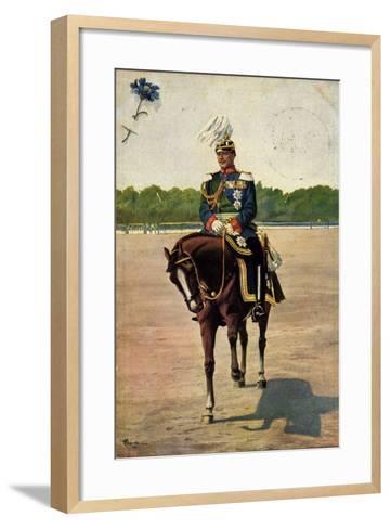 Künstler Starcke, König Friedrich August III, Pferd--Framed Art Print