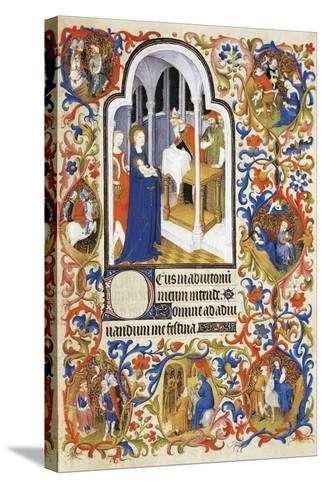 France, the Purification, Miniature from the Manuscript Breviary 469--Stretched Canvas Print
