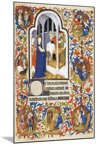 France, the Purification, Miniature from the Manuscript Breviary 469--Mounted Giclee Print
