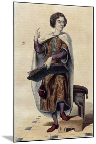 France, Paris, Portrait of Peter Abelard--Mounted Giclee Print