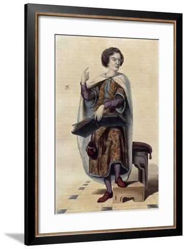 France, Paris, Portrait of Peter Abelard--Framed Art Print