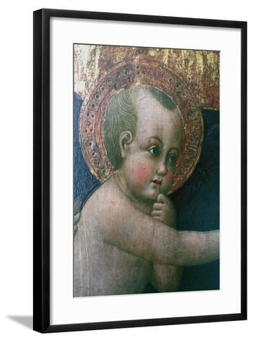 Madonna and Child known as Madonna of Cherries--Framed Art Print