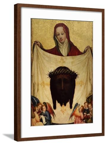 Master of Saint Veronica, St. Veronica with the Holy Kerchief. C. 1420--Framed Art Print