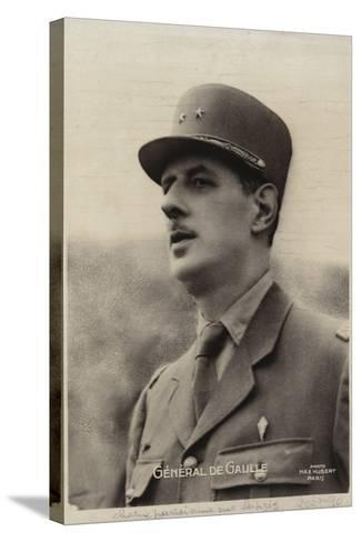 Charles De Gaulle--Stretched Canvas Print