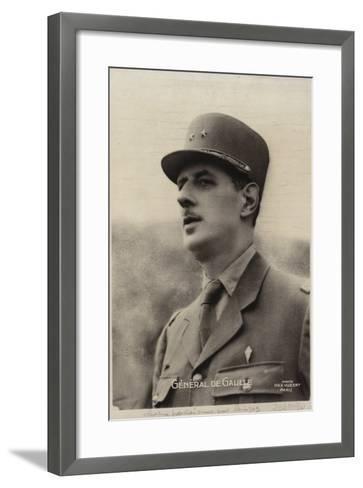 Charles De Gaulle--Framed Art Print