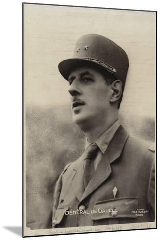 Charles De Gaulle--Mounted Photographic Print