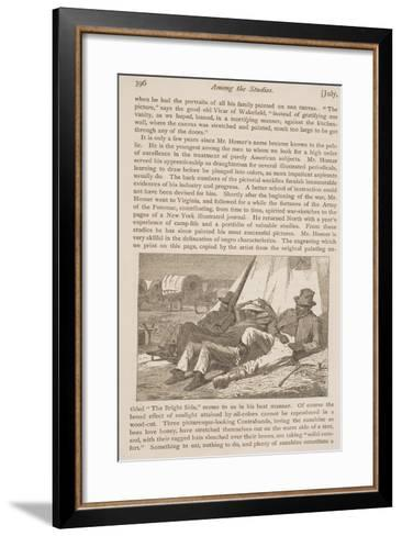 """The Bright Side, Published in """"Our Young Folks,"""" July 1, 1866--Framed Art Print"""