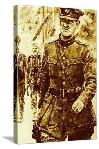 Michael Collins, Leader of the Rebels in the Easter Uprising in Ireland, 1916--Stretched Canvas Print
