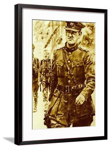 Michael Collins, Leader of the Rebels in the Easter Uprising in Ireland, 1916--Framed Art Print