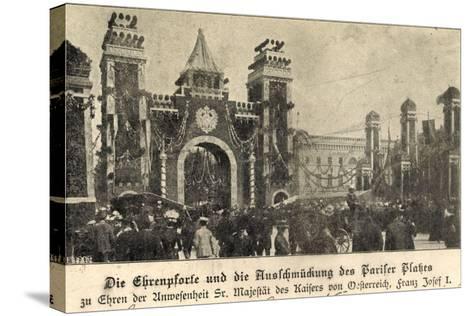 Berlin, Franz Josef I, Am Pariser Platz, Ehrenpforte--Stretched Canvas Print