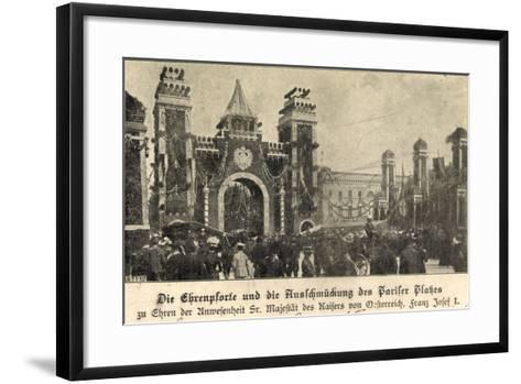 Berlin, Franz Josef I, Am Pariser Platz, Ehrenpforte--Framed Art Print