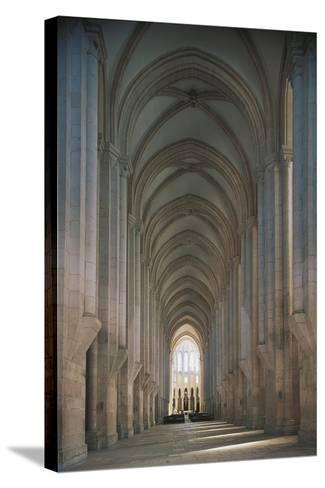 Portugal - Alcobaça. Aisle at the Monastery of Santa Maria--Stretched Canvas Print