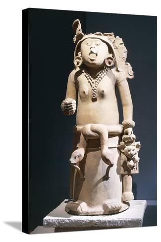 Mexico, Vera Cruz, Statue of Cihuateteo, Celestial Princess--Stretched Canvas Print