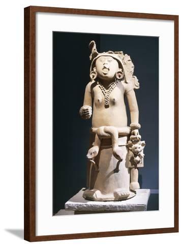 Mexico, Vera Cruz, Statue of Cihuateteo, Celestial Princess--Framed Art Print