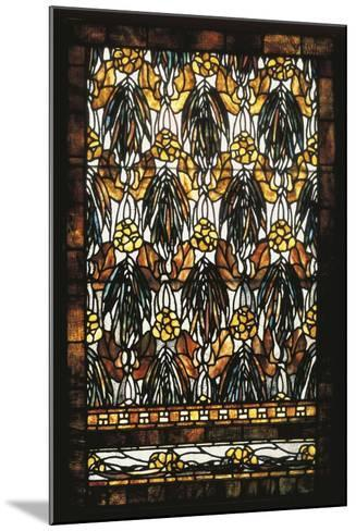 Polychromatic Stained Glass Window--Mounted Giclee Print