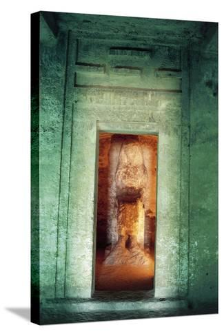 Egypt, Amarna, Tell El-Amarna, Necropolis, Tomb of Dignitary Ahmose, Niche with Statue--Stretched Canvas Print