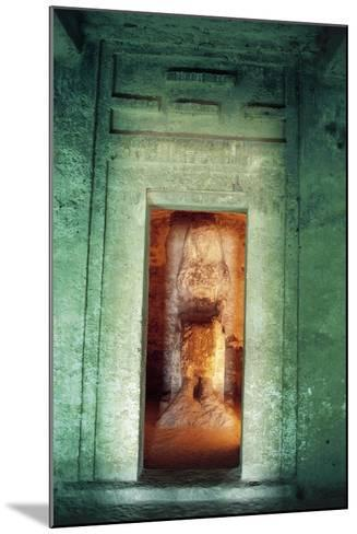 Egypt, Amarna, Tell El-Amarna, Necropolis, Tomb of Dignitary Ahmose, Niche with Statue--Mounted Giclee Print
