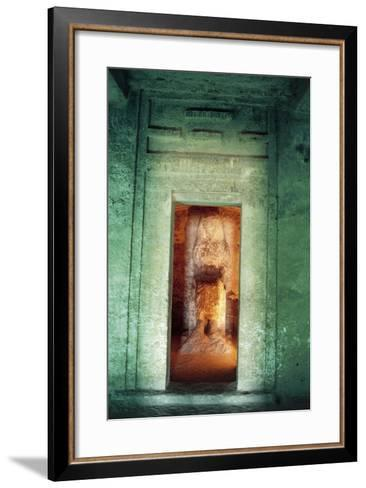 Egypt, Amarna, Tell El-Amarna, Necropolis, Tomb of Dignitary Ahmose, Niche with Statue--Framed Art Print
