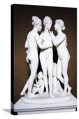 Three Graces by Bertel Thorvaldsen, Copenhagen, Denmark--Stretched Canvas Print