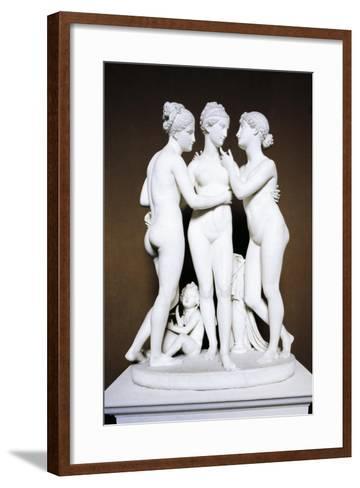 Three Graces by Bertel Thorvaldsen, Copenhagen, Denmark--Framed Art Print